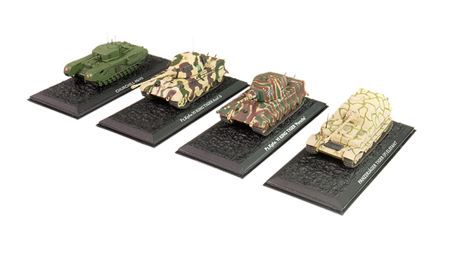 Image of the DeAgostini ModelSpace wwii tank diecast models, as part of a blog about how to start your diecast models collection.