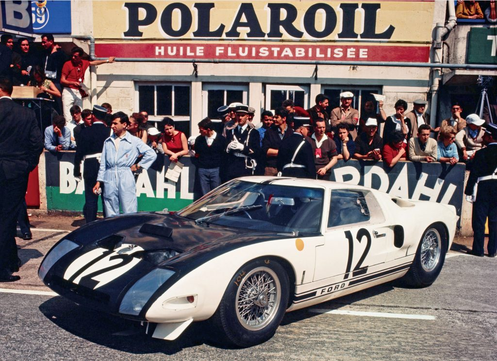 Archive photo of the Ford GT at Le Mans, as part of a blog about the Ford GT's facts and history.