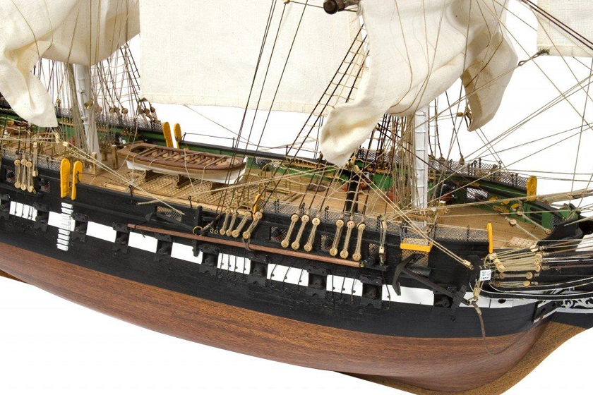 Image of the ModelSpace 1:76 USS Constitution model, as part of a blog about how to build model ships.