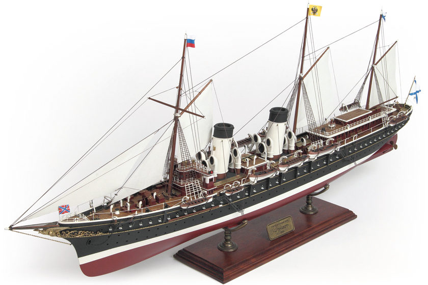 Image of the ModelSpace 1:30 scale Standart yacht model, as part of a blog about how to build scale model ships.