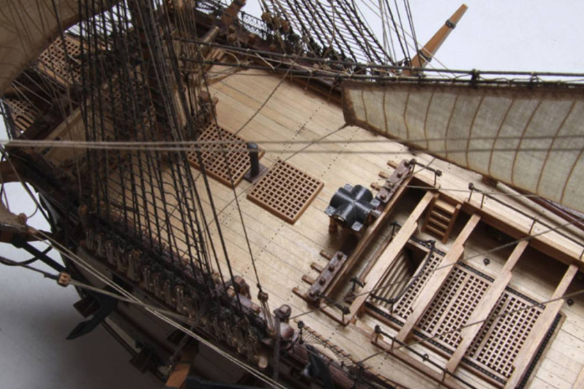 Image of ModelSpace 1:84 scale HMS Victory model, as part of a blog about how to build scale model ships.