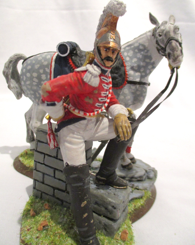 Image of Carabinier Soldier model as part of a blog about the ModelSpace May scale modeller of the month - Ian Smith.