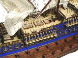 Image of the ModelSpace 1:70 Soleil Royal model, as part of a blog about how to build scale model ships.