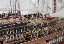 Image of the ModelSpace 1:84 Sovereign of the Seas model, as part of a blog about how to build scale model ships.