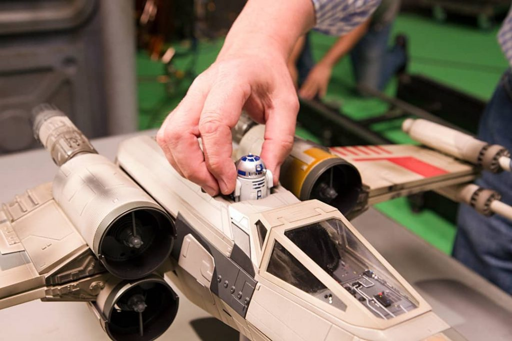 Image of the DeAgostini ModelSpace X-wing Star Wars scale model, as part of a blog about activities to do at home.