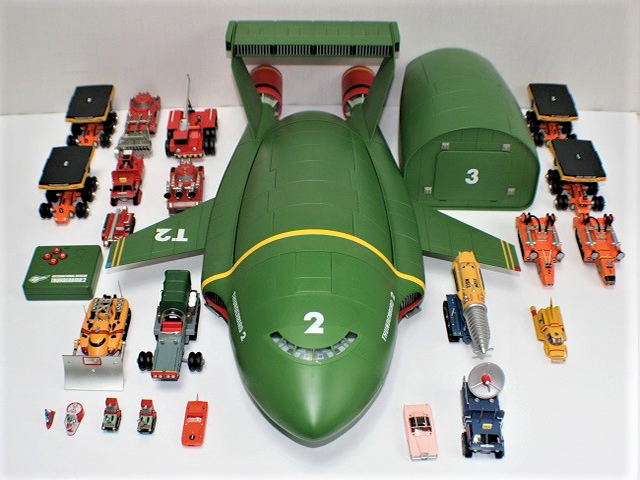 Image of the DeAgostini Thunderbird 2 model as part of a blog about the ModelSpace June scale modeller of the month - Derek Williams.