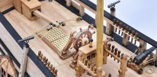 Image of the ModelSpace 1:48 HMS Bounty admiralty model, as part of a blog about the HMS Bounty facts and history.