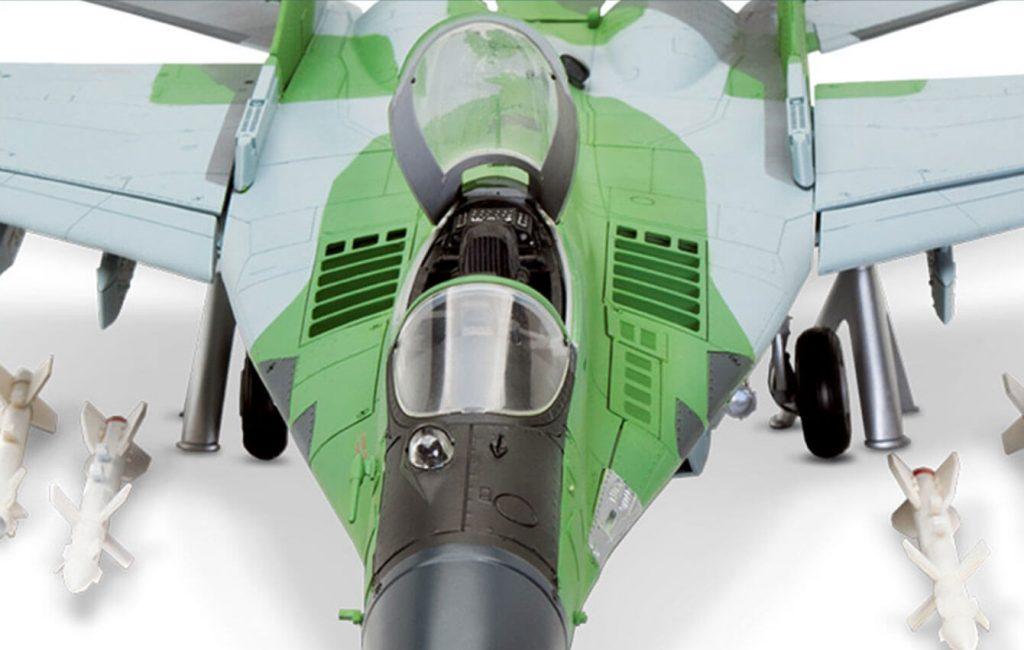 Image of the 1:24 scale MiG-29 fighter jet replica, as part of a blog about the MiG-29's history and facts.