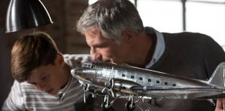 Image of a father and son building a ModelSpace Douglas DC3 scale model, as part of a blog about activities to do at home.