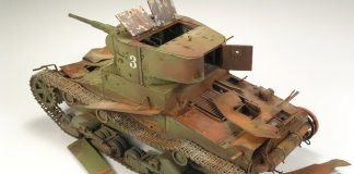Image of weathered tank scale model, as the cover image for a guide blog about weathering scale models.