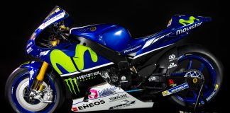 Cover image of a 1:4 scale model Yamaha YZR-M1 motorbike, for a blog about the Valentino Rossi motogp career.