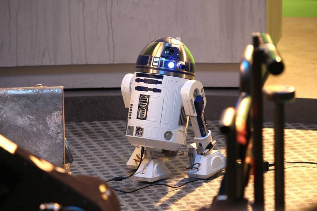Image of ModelSpace 1:2 scale R2-D2 replica, as part of a blog about how to build a model robot.