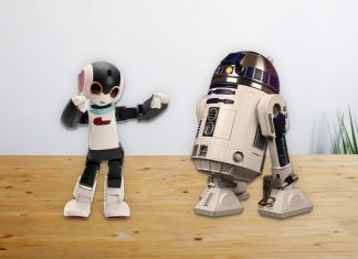 Image of the ModelSpace Robi and R2-D2 scale model replicas, as a cover image for a blog about building a model robot.