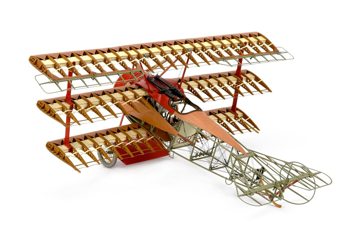 Image of ModelSpace 1:16 scale Red Baron scale model, as part of a blog about large scale model kits
