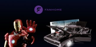 Image of scale model Iron Man and Dodge Charger, as part of a blog about Fanhome.