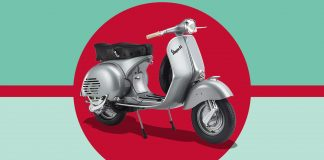 Image of Vespa GS 150 1:3 scale model, as part of a blog featuring common questions about the Classic Vespa.