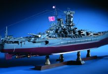 Image of the ModelSpace 1:250 scale Battleship Yamato, as part of a blog about the Yamato's history and facts.