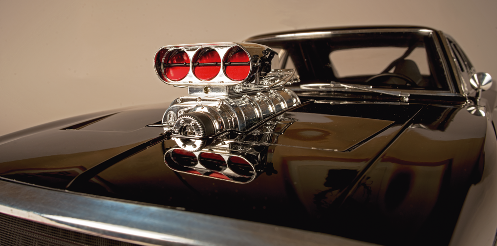 Image of scale model Dodge Charger, as part of a blog about Fanhome.