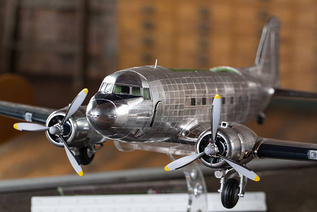 Image of the De Agostini ModelSpace 1:32 scale Douglas DC-3 model plane, as part of a blog about how to make model planes.