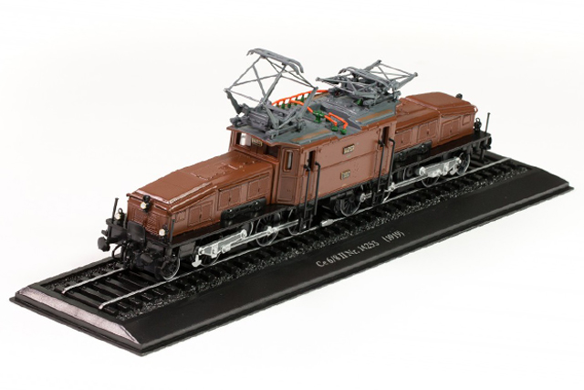 Image of the DeAgostini ModelSpace diecast model electric train, as part of a blog about model train scales and sizes.
