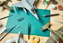 Image of several scale model planes, as part of a blog about how to make model planes.