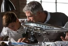 Image of father and son building the ModelSpace 1:32 scale Douglas DC-3 model plane, as part of a blog about indoor activities for families on rainy days