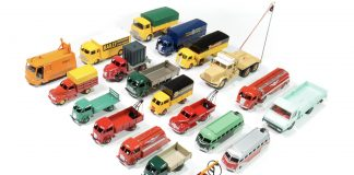 Image of DeAgostini ModelSpace Dinky Trucks diecast model cars, as part of a blog about our best diecast models.