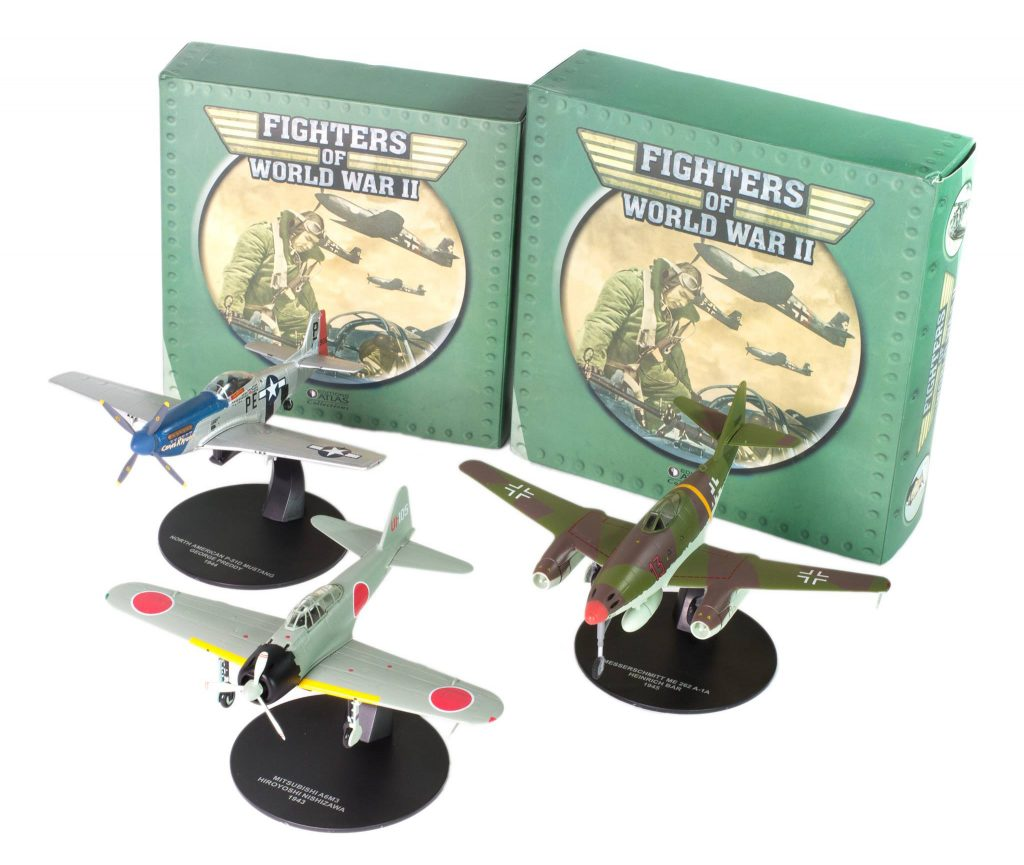 Image of DeAgostini ModelSpace diecast model WWII planes, as part of a blog about how diecast models are made.