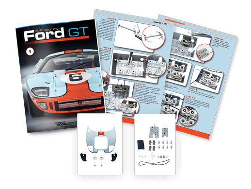 Download assembly guides of the Ford GT