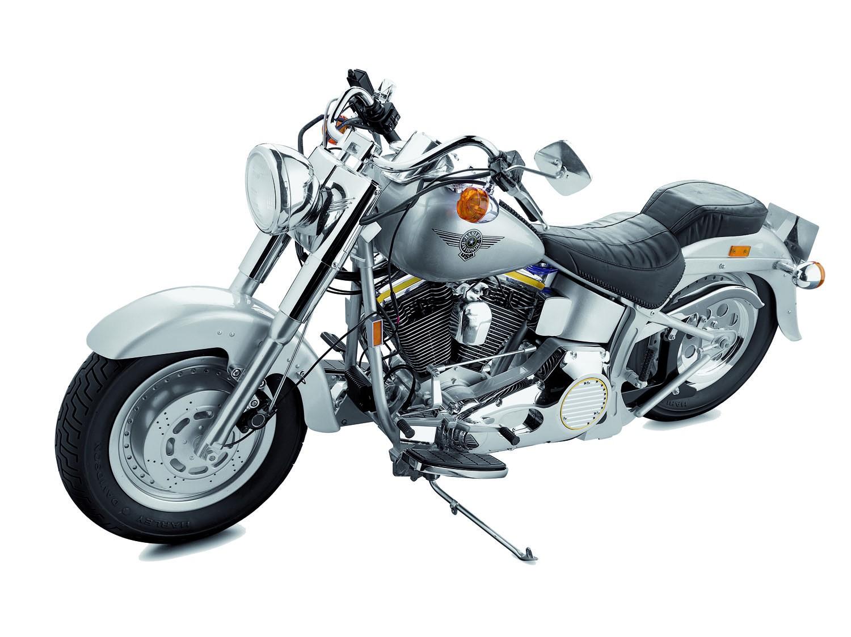 Harley Davidson Fat Boy 1 4 Model Bike Full Kit