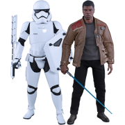 Finn and First Order Riot Control Stormtrooper Set | 1:6 Scale