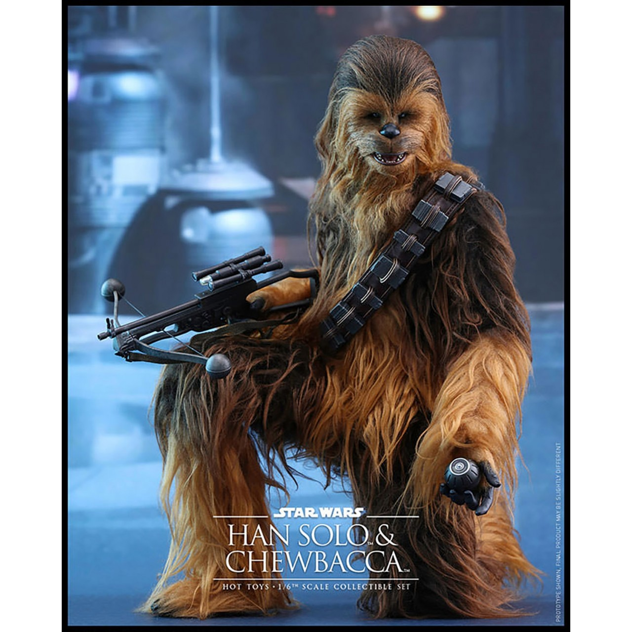 han solo chewbacca figure set 1 6 scale star wars collectibles