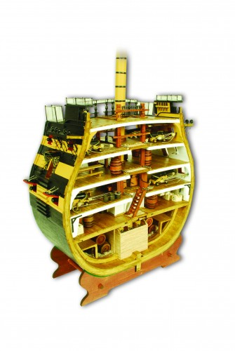 HMS Victory Cross-Section - Scale Model 1:72