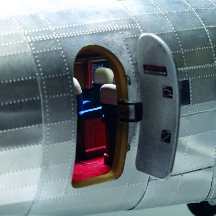 Build The Douglas DC-3 Model - Passenger cabin open