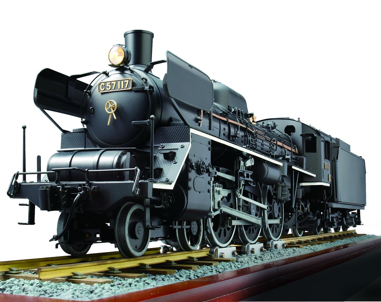 c57 locomotive model train engine de agostini modelspace
