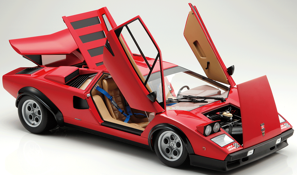 build the lamborghini countach lp500s 1 8 car scale model full kit modelspace. Black Bedroom Furniture Sets. Home Design Ideas