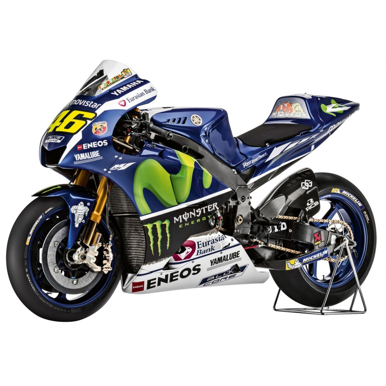 Build valentino rossi 39 s yamaha yzr m1 bike 1 4 model for Yamaha m1 for sale