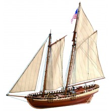 Virginia Schooner | 1:41 Modell | Komplett-Set
