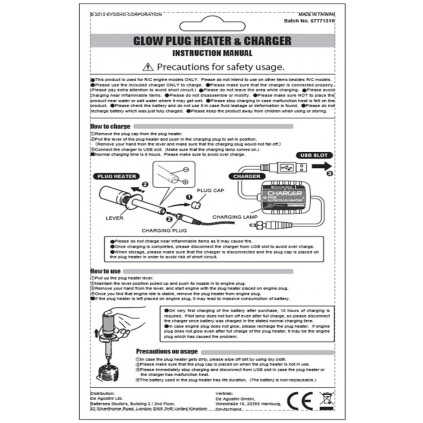 Kyosho Glühkerzenstecker - Gebrauchsanweisung