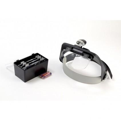 Lupen-Brille, LED-beleuchtet