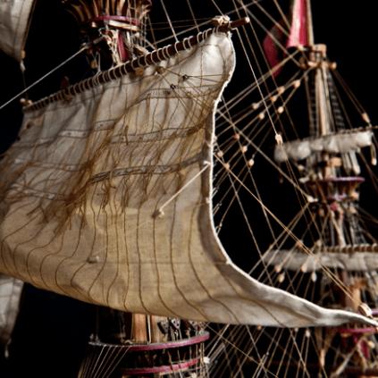 Bauen Sie die Sovereign of the Seas - Seile und Rüsten sind akkurat dargestellt.