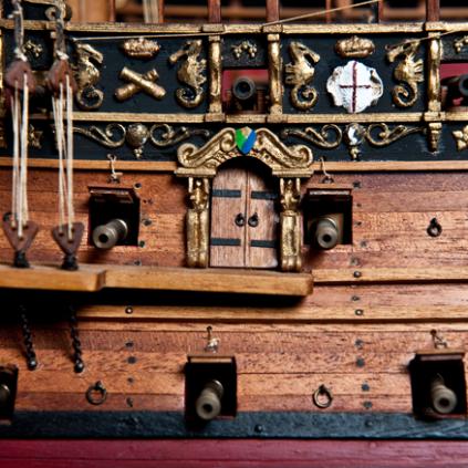 Bauen Sie die Sovereign of the Seas - Die Bauteile wurden unter Verwendung modernster Modellierungstechniken gefertigt.