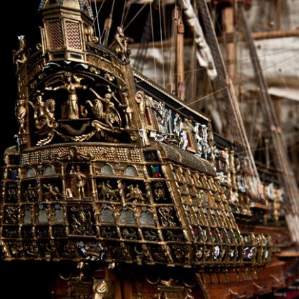 Bauen Sie die Sovereign of the Seas - Einzigartige und aufwendige Verzierungen
