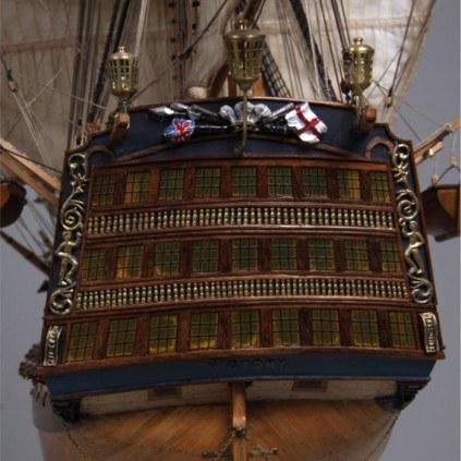 Admiral Nelsons HMS Victory - Einzigartige und aufwendige Verzierung