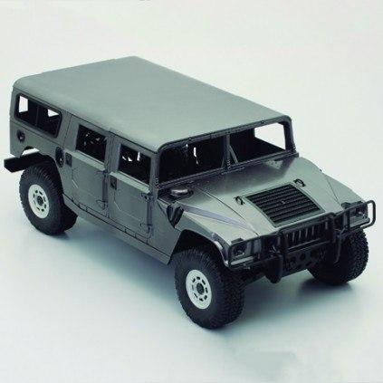 Bau und steuere den Hummer H1 - Länge 570 mm, Breite: 275 mm, Höhe: 220 mm, Radstand: 390 mm, Bodenfreiheit: 50 mm