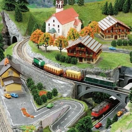 Eisenbahn der Alpen | 1:160 Modell