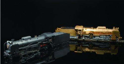 Bauen Sie die Dampflokomotive D51 - Länge: 880 mm, Höhe: 165 mm, Breite: 112 mm