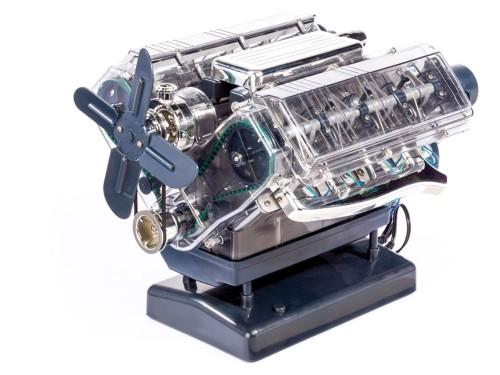 V8-Motor Komplett-Bausatz - Im Maßstab 1:3