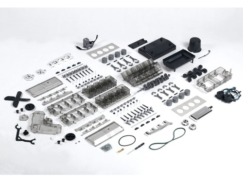 V8-Motor Komplett-Bausatz - Über 250 Bauteile