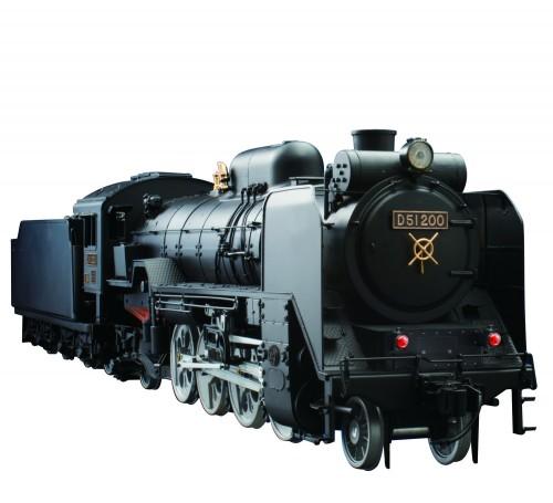 Bauen Sie die Dampflokomotive D51 - Die Lok besticht durch beleuchtete Laternen, Dampfpfeife und dampfloktypische Soundeffekte.